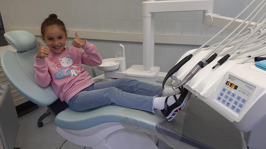 Новое оснащение отделения детской стоматологии